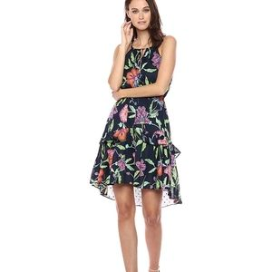 NWT Taylor navy keyhole tie dress, 8